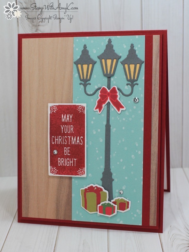 Stampin Up Brightly Lit Christmas CAS Card Stamp With