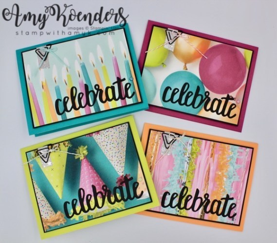 Stampin Up Picture Perfect Birthday Cards For Happy Inkin
