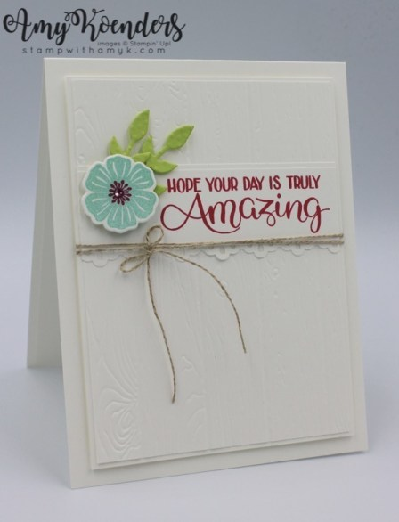 Stampin Up Big Wishes Birthday Card For Fab Friday Stamp With Amy K