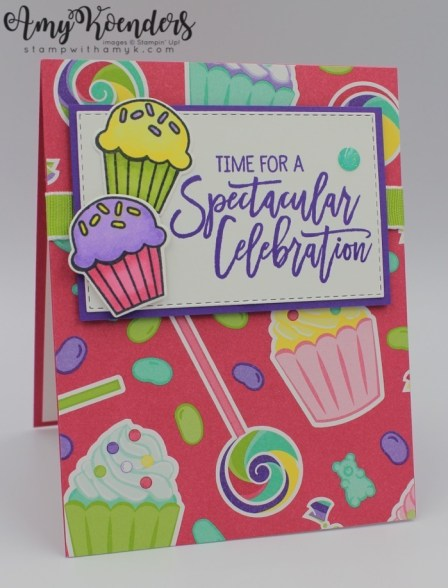 Stampin Up Birthday Cheer Quick Card