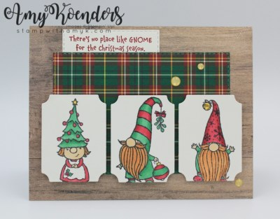 Stampin Up Gnome For The Holidays Christmas Card With Video Tutorial Stamp With Amy K