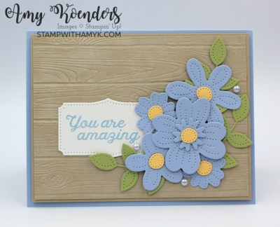 Stampin' Up! In Bloom Whitewashed You Are Amazing Card