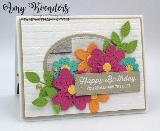 Stampin' Up! In Bloom Birthday Card
