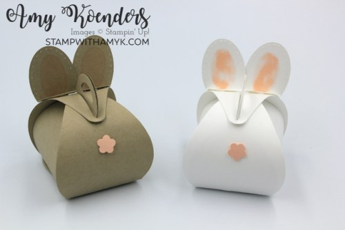 Stampin' Up! Mini Curvy Keepsakes Box Dies Bunny for Easter