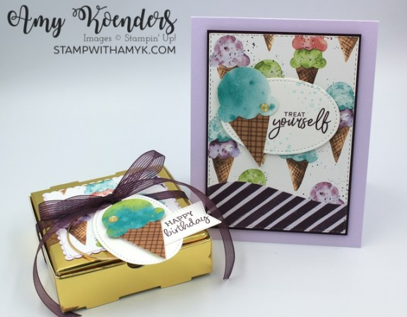 Stampin' Up! Sweet Ice Cream Birthday Card & Mini Pizza Box