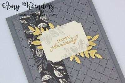 Stampin' Up! Elegantly Said Anniversary Card