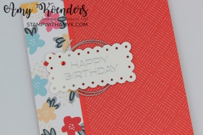 Stampin' Up! Vine Design & What A Year Memories & More Card Pack Birthday Card
