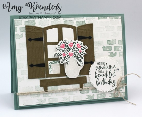 Stampin' Up! Welcoming Window Birthday Card