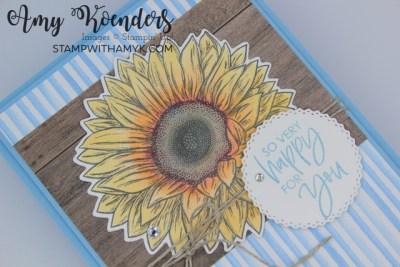 Stampin' Up! Celebrate Sunflowers Congratulations Card