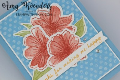 Stampin' Up! Art In Bloom Thank You Card