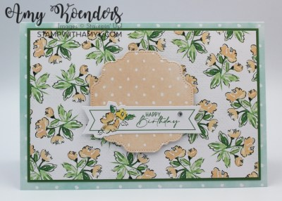 Stampin' Up! Hand-Penned Memories & More Card Pack Birthday Card