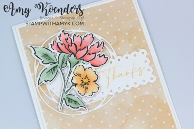 Stampin' Up! Hand-Penned Petals Thank You Card