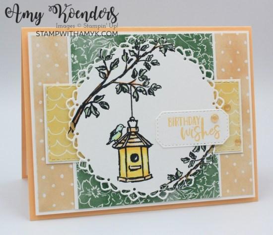 Stampin' Up! Garden Birdhouses Birthday Card