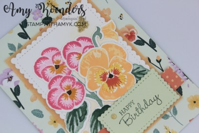 Stampin' Up! Pansy Patch Birthday Card