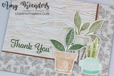 Stampin' Up! Plentiful Plants Thank You Card