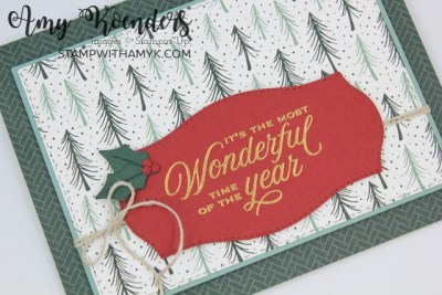 Stampin' Up! Tidings & Trimmings Christmas Card