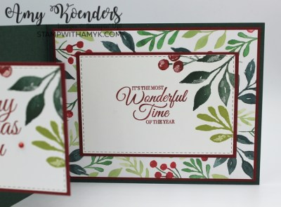 Stampin' Up! Christmas Season With Holly Jolly Wishes Z-Fold Christmas Card