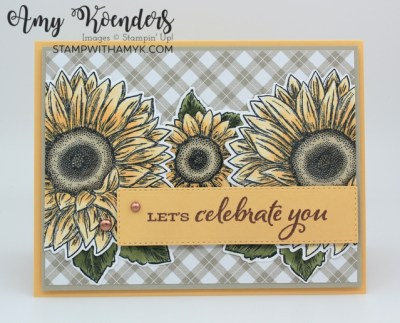 Stampin' Up! Celebrate Sunflowers Birthday Card