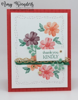 Stampin' Up! Delicate Dahlias Thank You Card