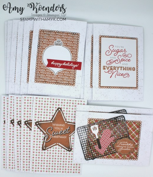 Stampin' Up! Gingerbread & Peppermint Memories & More Card Pack and Cards & Envelopes Christmas Cards