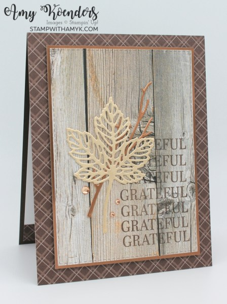 Stampin' Up! Sparkle Of The Season CAS Fall Thank You Card