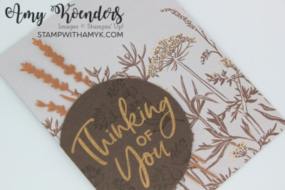 Stampin' Up! Thinking Thanks & Peace Thinking Of You Card