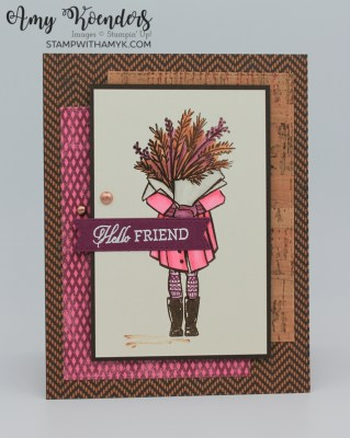 Stampin' Up! Delivering Cheer Fall Friend Card