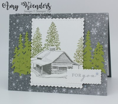 Stampin' Up! Peaceful Cabin For You Card