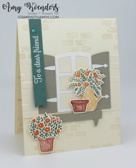 Stampin' Up! Welcoming Window Fall Flowers Birthday Card