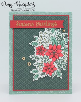 Stampin' Up! Words Of Cheer Christmas Card