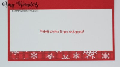 Stampin' Up! Words Of Cheer Slimline Christmas Card