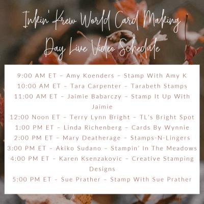 Inkin' Krew World Card Making Day Event
