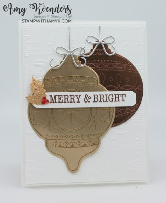 Stampin' Up! Bright Baubles CAS Christmas Card