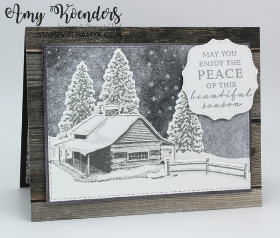 Stampin' Up! Peaceful Cabin Christmas Card