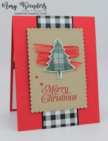 Stampin' Up! Perfectly Plaid Christmas Card