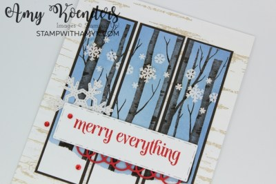 Stampin' Up! Welcoming Woods Christmas Card