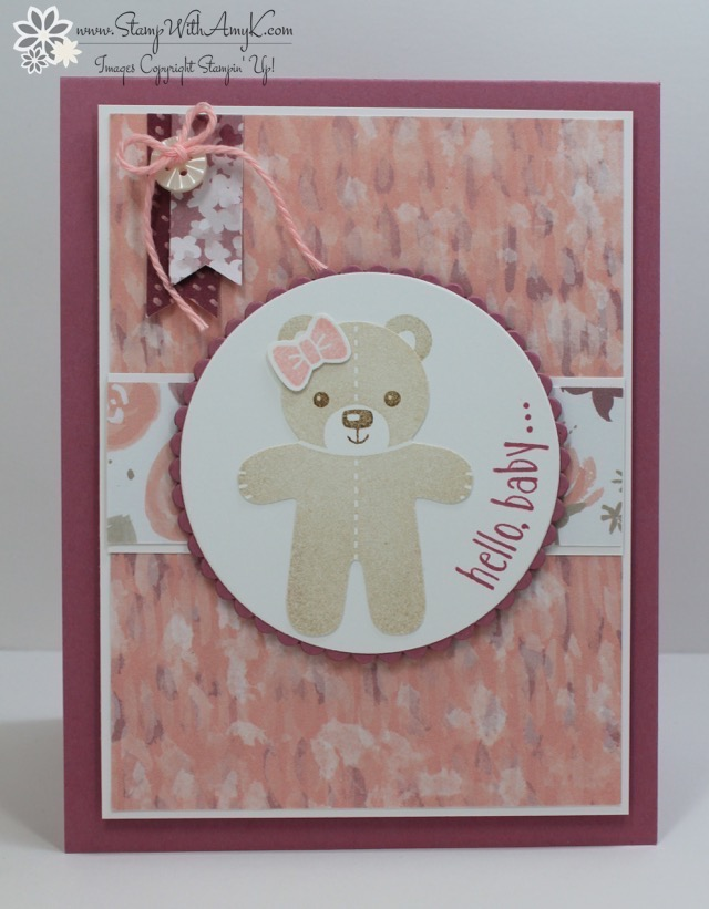 Stampin Up Cookie Cutter Christmas Baby Card Stamp