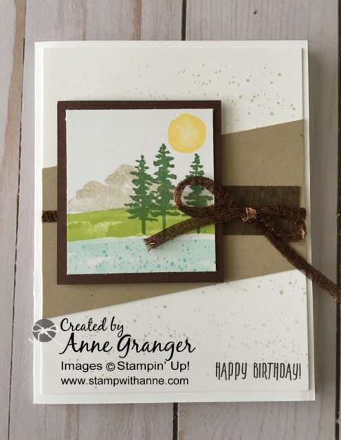 Stampin' Up! Waterfront stamp set use to create a Birthday card