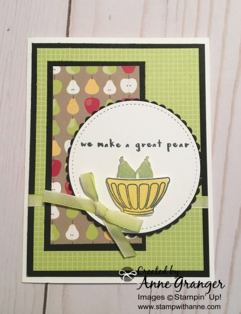 Card created with the Fruit Basket Stamp set!