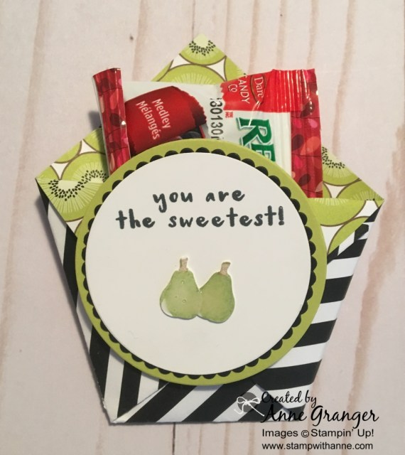 Diaper Fold Treat Holder created with the Fruit Basket Bundle.