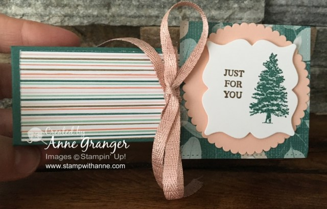 Gift Box created with the Rooted in Nature stamp set  created for Saturday Facebook Live