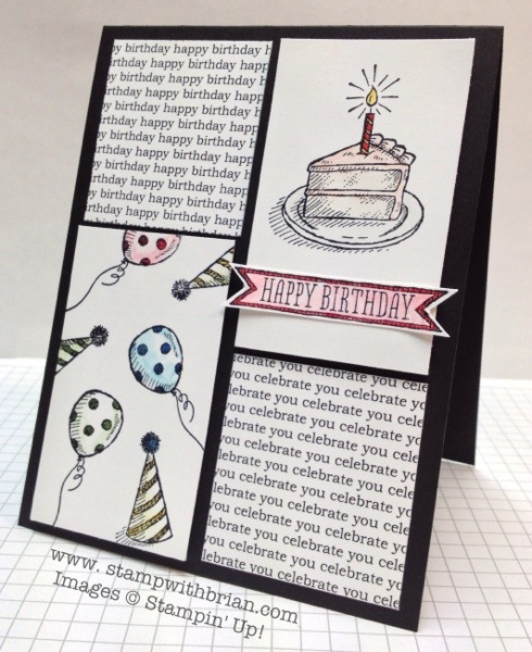 Sketched Birthday, Stampin' Up!, Brian King