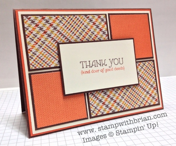 Lots of Thanks, Sweater Weather Designer Series Paper, Stampin' Up!, Brian King