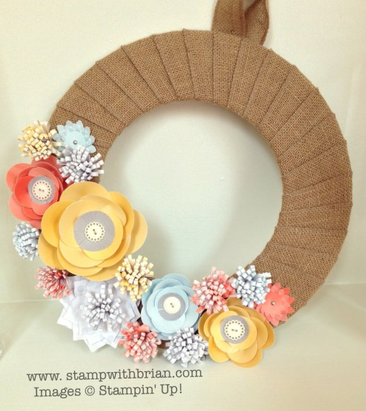 Burlap and Blooms Simply Made Wreath Kit, Stampin' Up!, Brian King