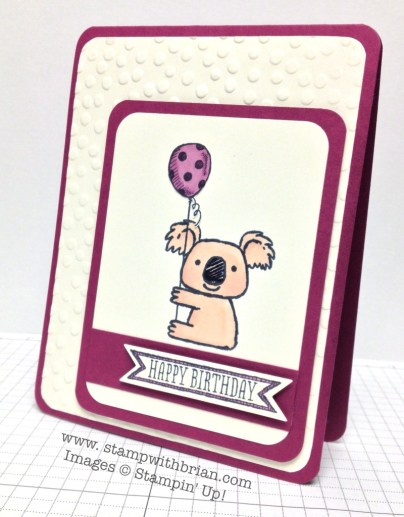 Kind Koala, Sketched Birthday, Stampin' Up!, Brian King