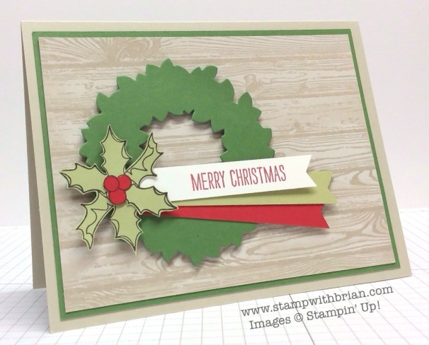 Christmas Bauble, Making Spirits Bright, Hardwood, Stampin' Up!, Brian King, MM123