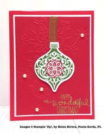 Holiday One-for-One Swaps, Stampin' Up!, by Helen Rivera
