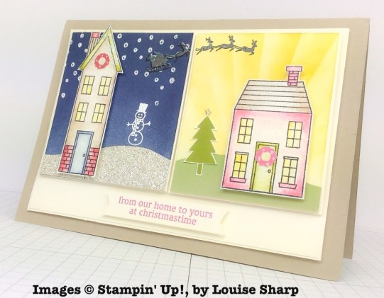 Holiday Home, Stampin' Up!, by Louise Sharp