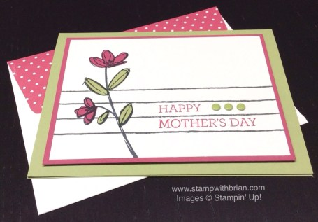 Mother's Love, Crazy About You, Draw the Line, Stampin' Up!, Mother's Day card, Brian King