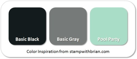 Stampin' Up! Color Inspiration: Basic Black, Basic Gray, Pool Party